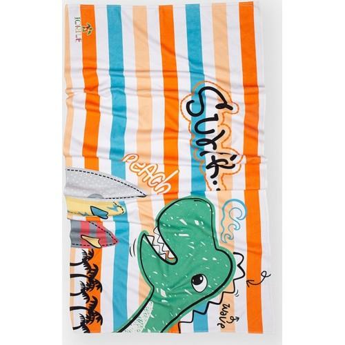 Πετσέτα Θαλάσσης Βαμβακερή Αγόρι - Dinosaur surfer  70x140cm
