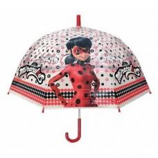 Ομπρέλα Παιδική Διάφανη 48cm Miraculous Ladybug