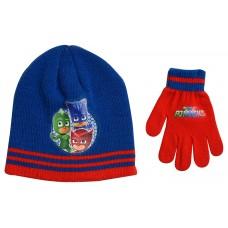 Παιδικό Σετ Σκούφος Γάντια Pj -Μπλε/Κόκκινο