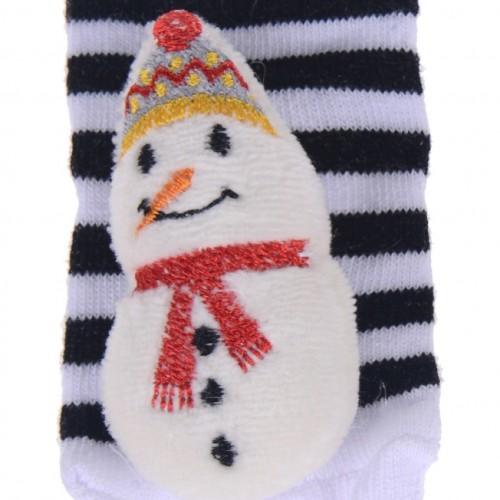 Βρεφικές κάλτσες «Snowman»