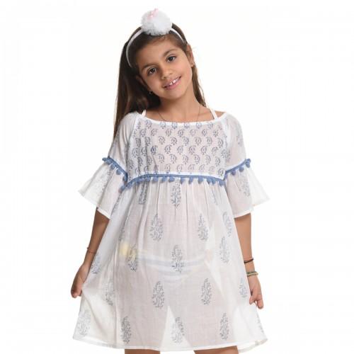 Παιδικό Καφτάνι 19604-Λευκό