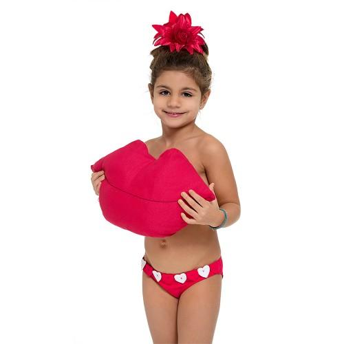 Παιδικό μαγιώ 16-5025- Κόκκινο Μαγιώ Κορίτσι 16-5025