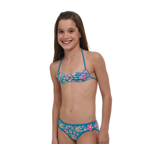 Παιδικό μαγιώ 16-5025- Γαλάζιο Μαγιώ Κορίτσι 18-4005