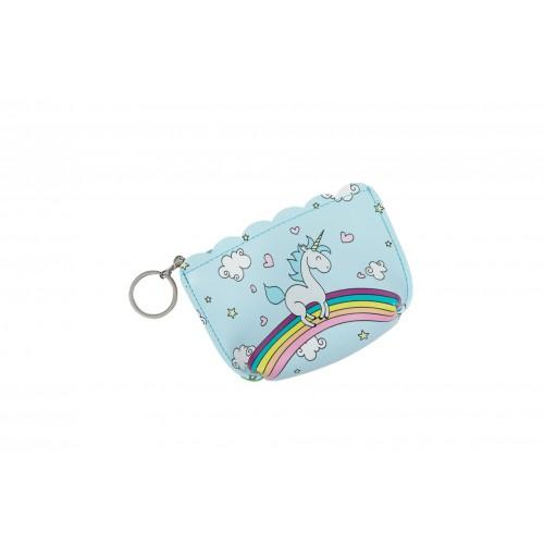 Πορτοφολάκι μπρελόκ 82101-Unicorn Γαλάζιο Πορτοφόλια 82101-3