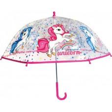 Ομπρέλα Παιδική Διάφανη 45cm Unicorn