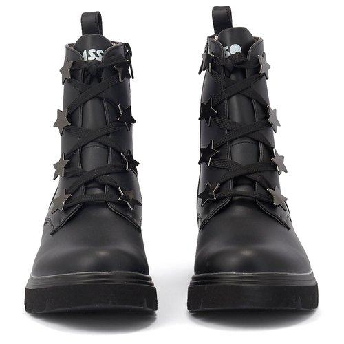 Παιδικά μποτάκια Meridian 9256-Black Αρβυλάκια Meridian 9256-Black