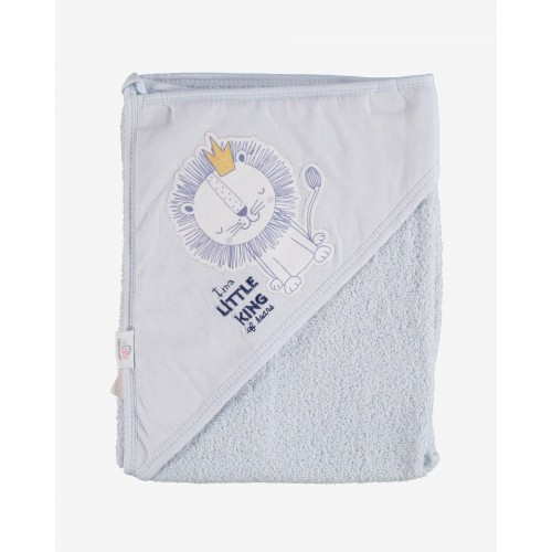 Βρεφική πετσέτα Lion-Γκρί